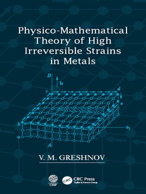 cover image of Physico-Mathematical Theory of High Irreversible Strains in Metals